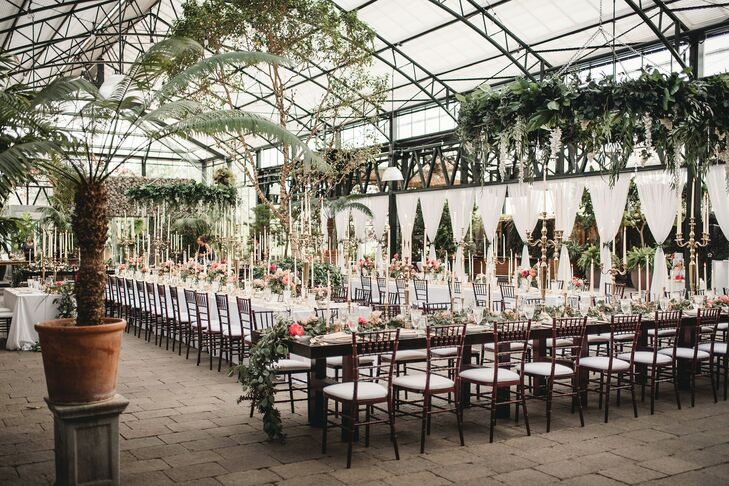 Formal Reception with Chiavari Chairs at Planterra Conservatory in Detroit, Michigan