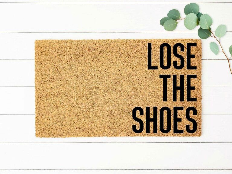 funny doormat for newlyweds