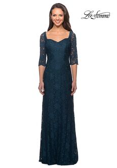 La Femme Evening 25526 Blue Mother Of The Bride Dress