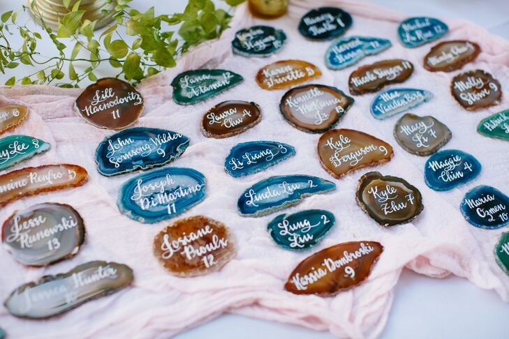 Multicolor Agate Escort Cards