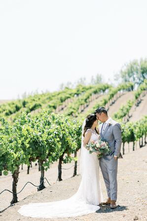 Couple Portraits at Leal Vineyards in Hollister,  California