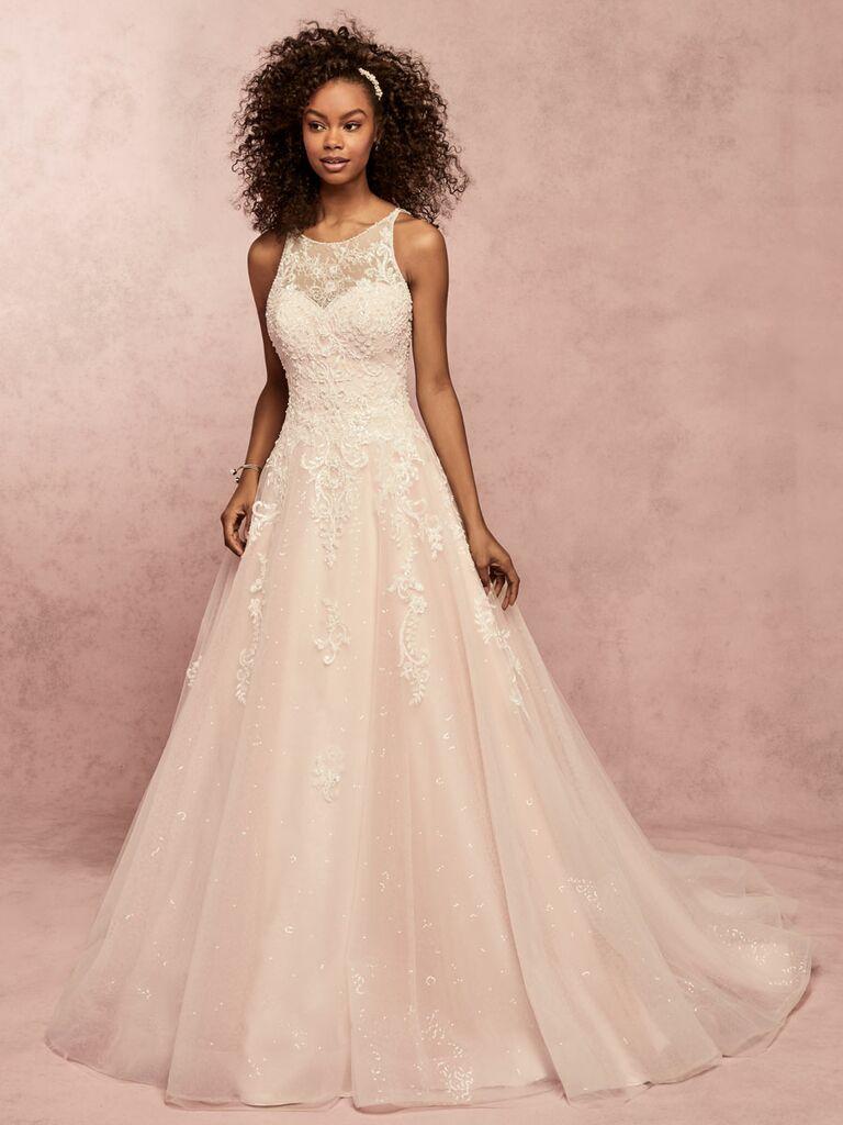 Rebecca Ingram Spring 2019 halter neck ball gown wedding dress