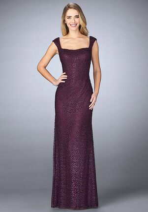La Femme Evening 24891 Purple Mother Of The Bride Dress