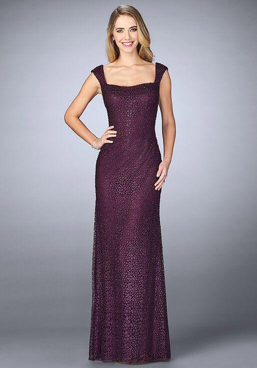 La Femme Evening 24891 Purple Mother Of The Bride Dress