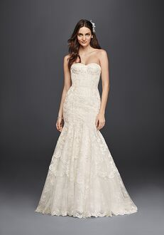 David's Bridal Galina Signature Style SWG755 Mermaid Wedding Dress