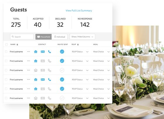 Wedding Guest List Free Wedding Guest List Manager The Knot
