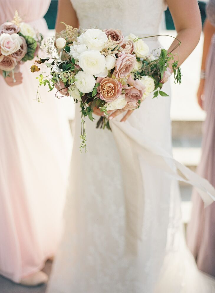 Textured Ranunculus, Rose and Wildflower Bouquet