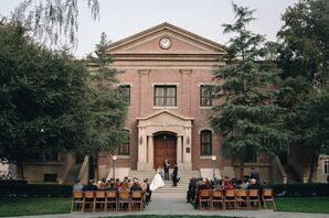 Outdoor Ceremony at Universal Studios Backlot Courthouse in Hollywood