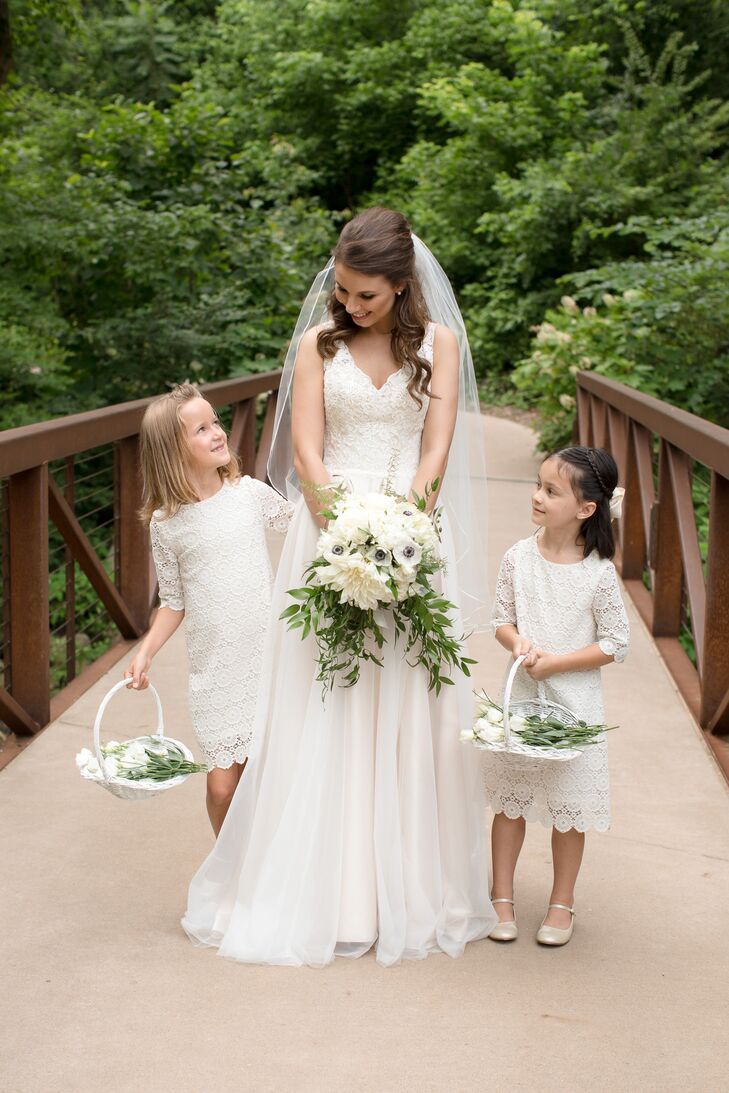 41ee500850f Matching Bridal And Flower Girl Dresses