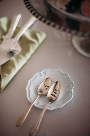 Newlywed Matching Engraved Silver Spoons