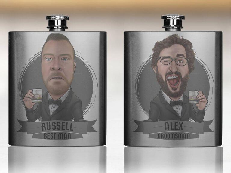 custom groomsmen flasks