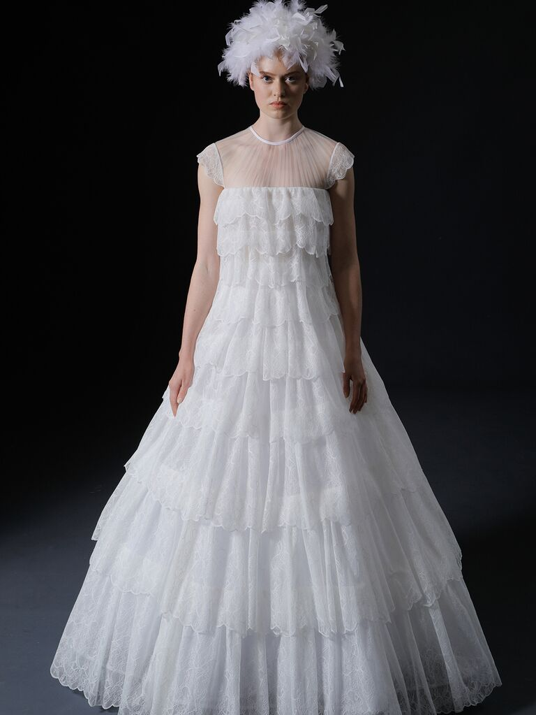 Isabelle Armstrong Spring 2020 Bridal Collection ruffled cap sleeve wedding dress