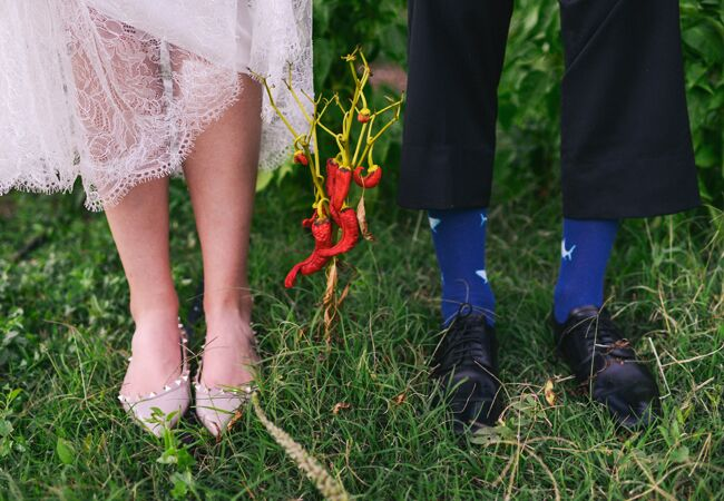 Brides who didn't wear heels |Blush Photography | blog.theknot.com