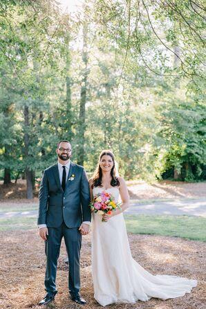 Strapless Lace Amy Kuschel Wedding Dress
