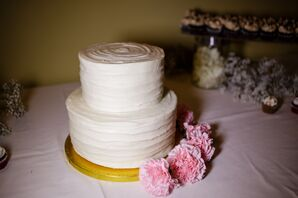 Classic Two-Tier White Wedding Cake