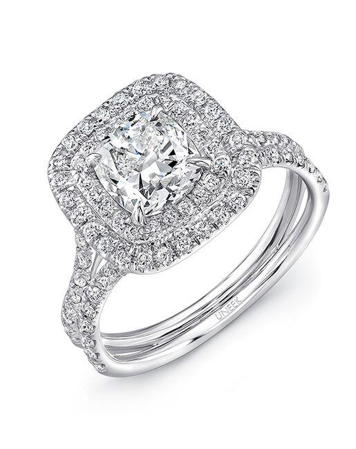 Uneek Fine Jewelry Unique Cushion Cut Engagement Ring