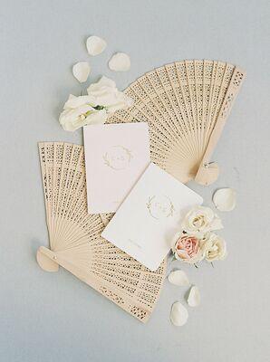 Wedding Stationery Styled with Folding Fans for Georgia Wedding