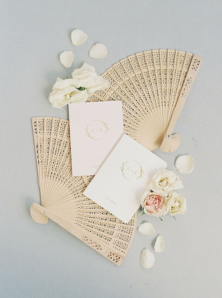 Wedding Stationery Styled with Folding Fans for Georgia Wedding
