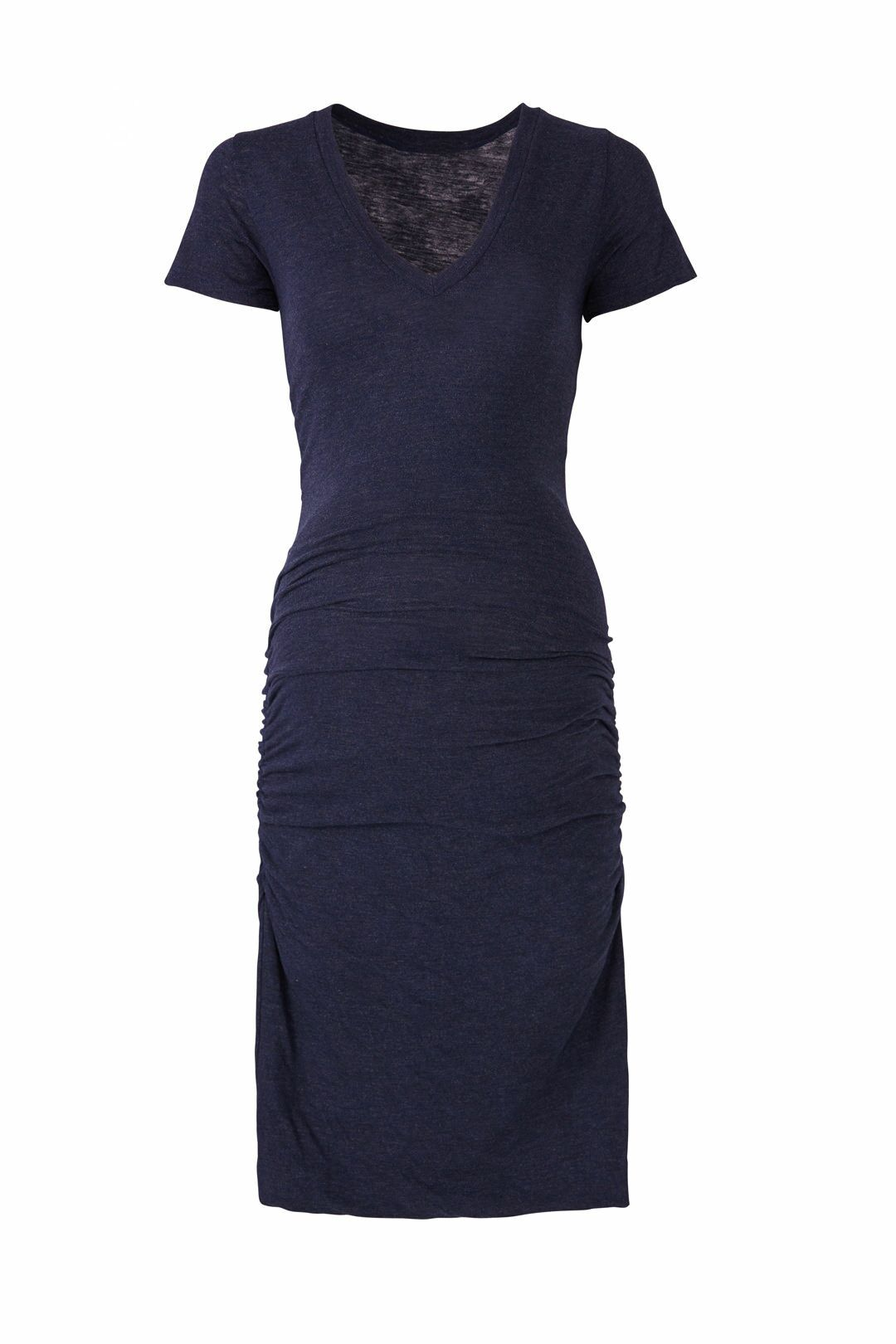 Navy Short Sleeve Maternity Dress