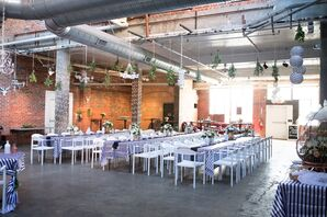 Striped Dining Tables, Strongwater Venue