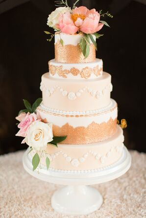 Lace Applique Wedding Cake