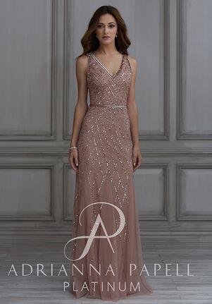Adrianna Papell Platinum 40135 V-Neck Bridesmaid Dress