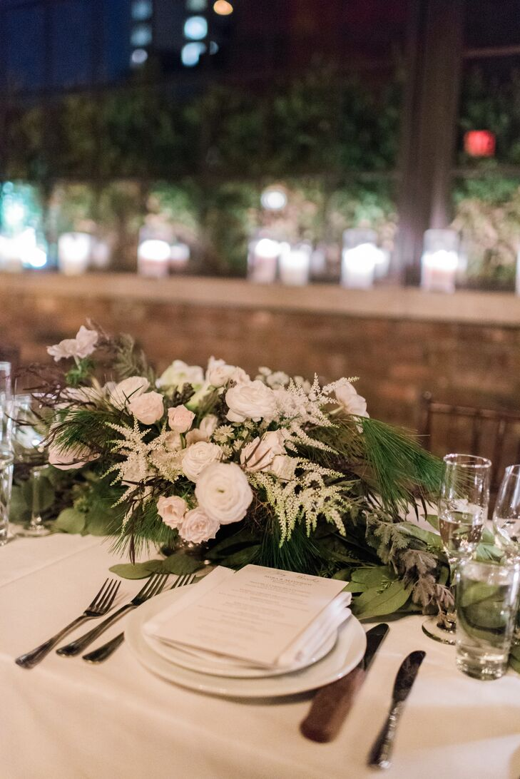 Wintry Pine and Eucalyptus Accented Centerpieces