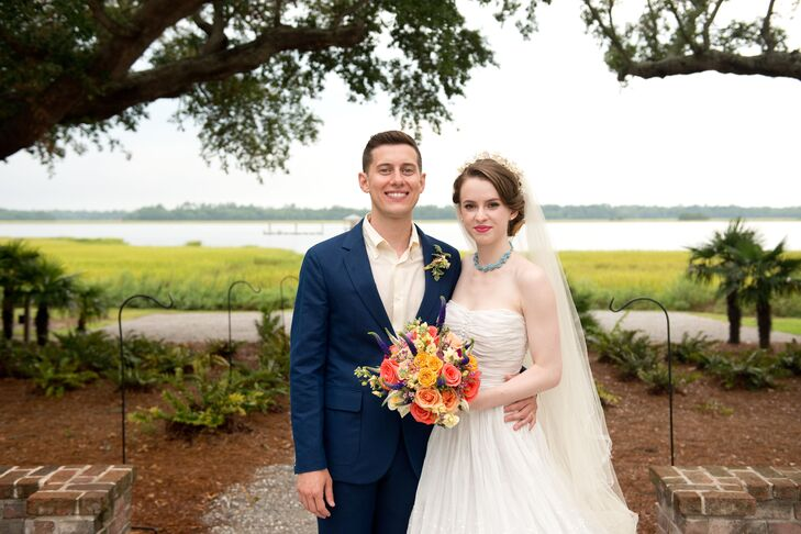 """We chose to have our wedding in Charleston because I went to college there and it's where we've spent our little precious vacation days visiting the town,"" says Kate."