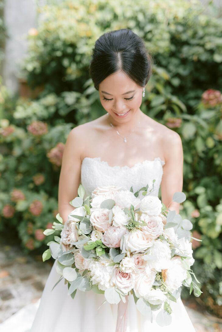 Bride with Bouquet for Wedding at Summerour Studio in Atlanta, Georgia