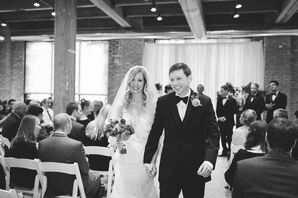 Bride and Groom at Loft Ceremony at Centered Chef