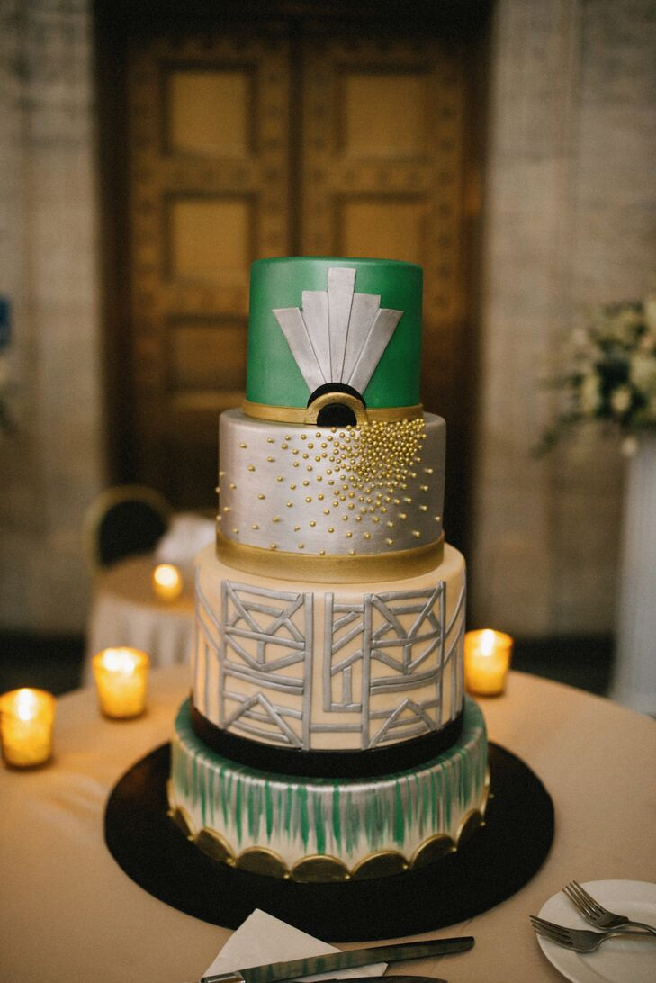 Glam Emerald Art Decor Cake