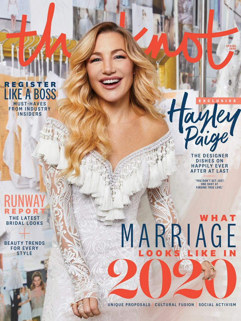 The Knot Spring 2020 issue - Hayley Paige cover