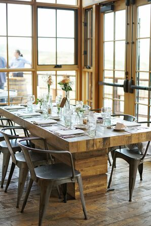Rustic-Industrial Wood Dining Tables and Pilot Chairs