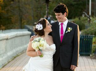 The Bride Sarah Salvatoriello, 30, a designer at XO Group and owner and creative director at Short Girl | Long Name The Groom Clint Higgins, 30, works