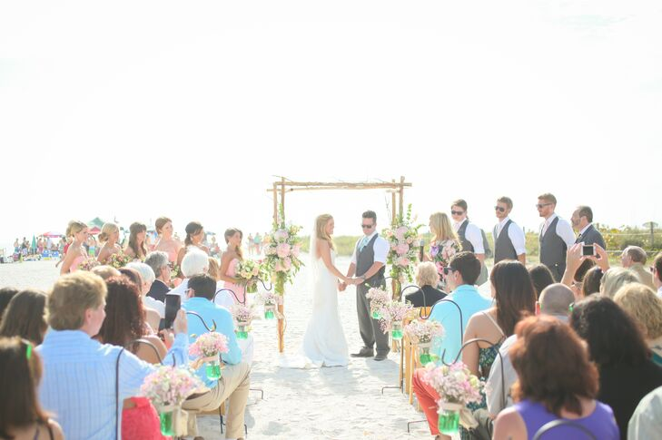 """The couple was surrounded by 100 friends and family members as they said """"I do."""""""