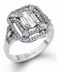 Simon G. Jewelry Emerald Cut Engagement Ring
