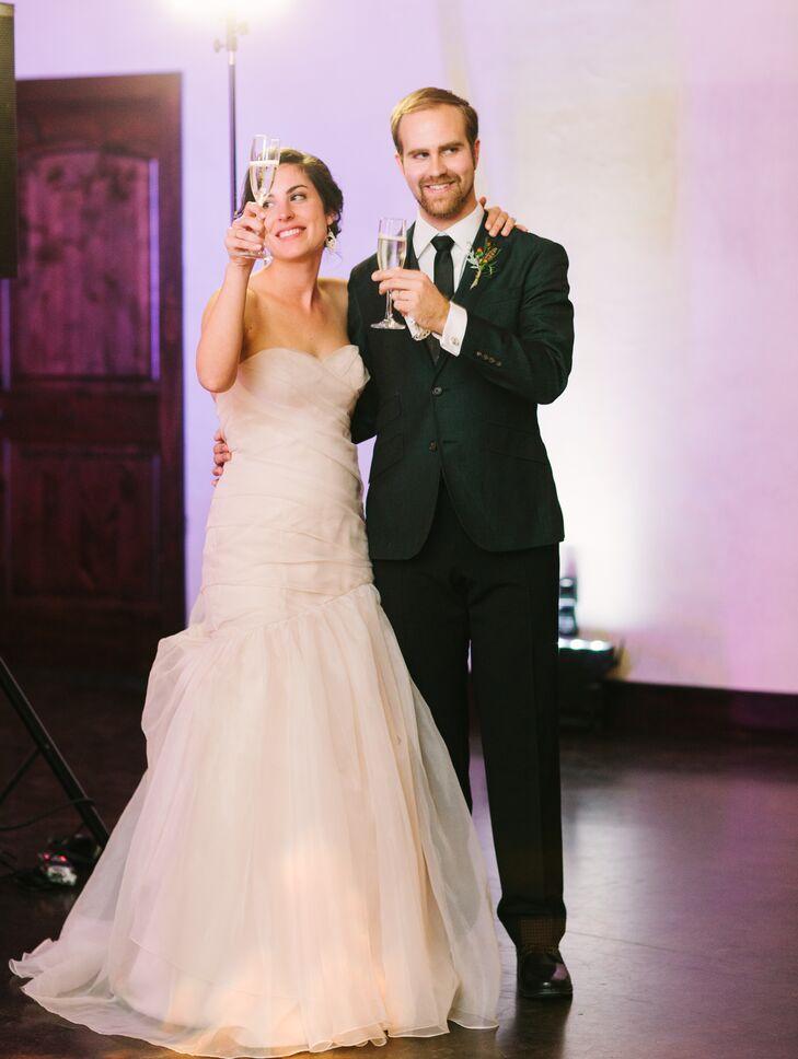 Strapless Ivory Tara Keeley Wedding Dress