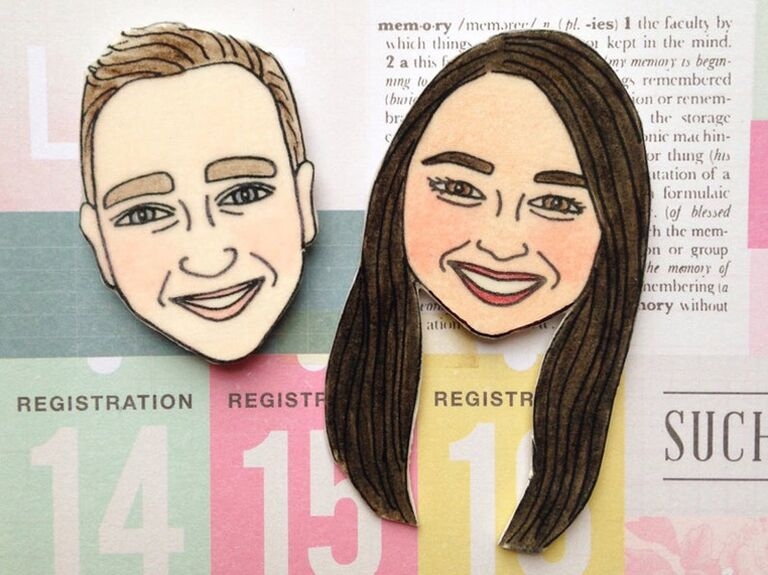 Custom face magnets funny engagement gift