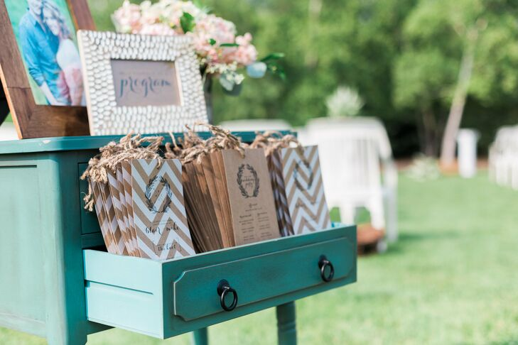 Turquoise Dresser Ceremony Decor