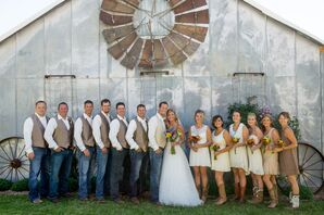 Casual, Country-Inspired Wedding Party