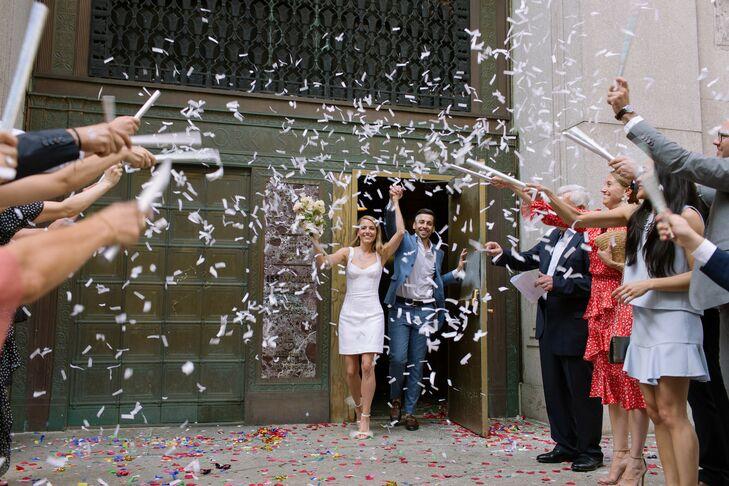 Confetti Exit at New York City Hall