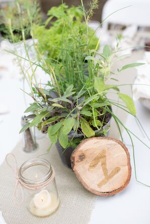 DIY Wooden Table Numbers