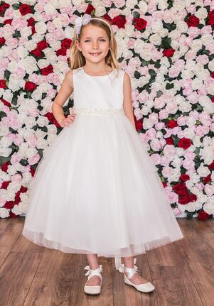 Kid's Dream 411-S Ivory Flower Girl Dress