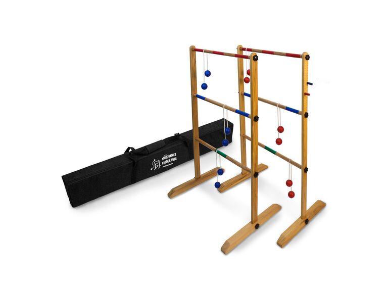 Ladder toss wedding lawn game