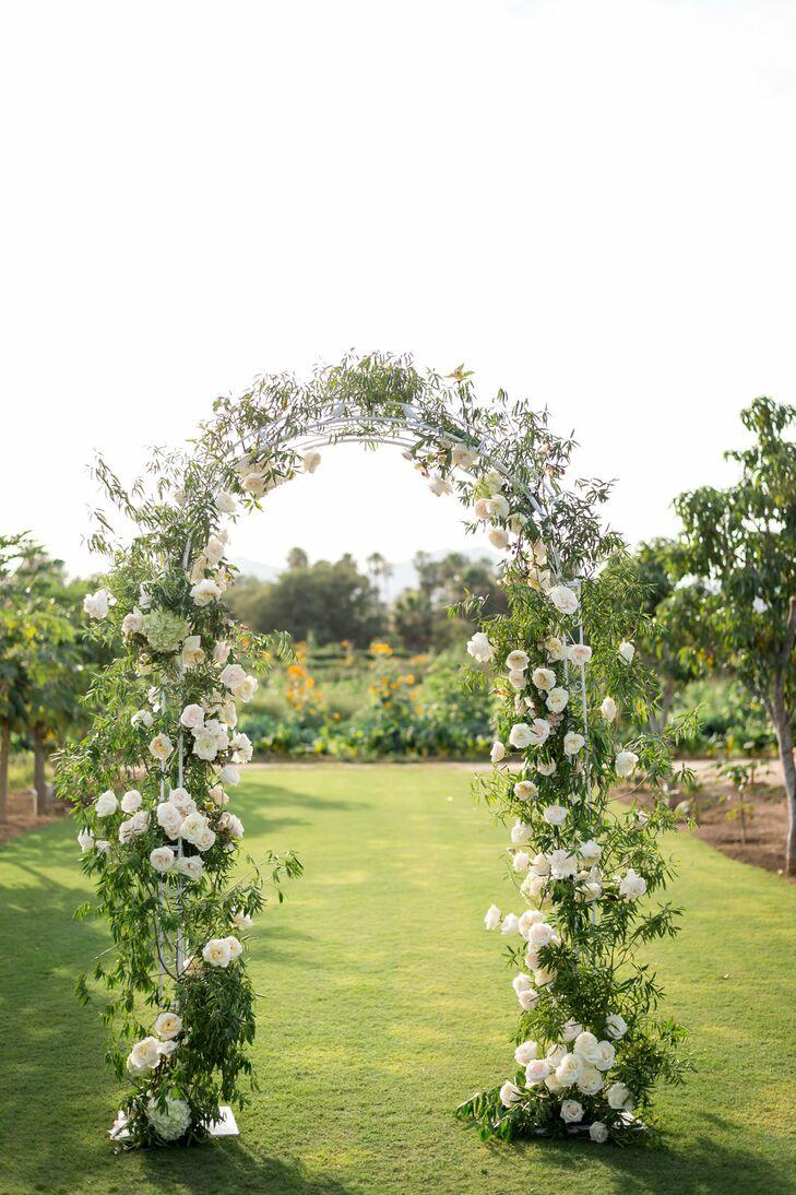 Blush Garden Rose Wedding Arch