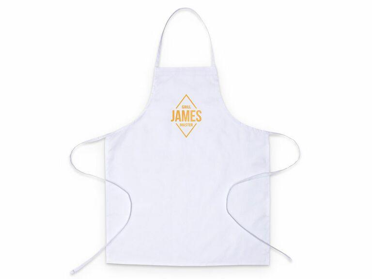 Personalized kitchen apron 16th anniversary gift