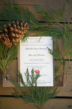 Laser-Cut Wood Wedding Invitation