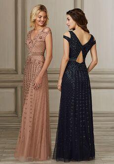 Adrianna Papell Platinum 40153 V-Neck Bridesmaid Dress