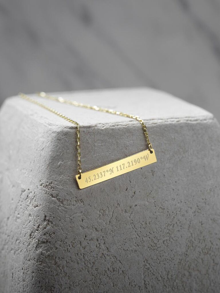 Personalized necklace 10 year anniversary gift for her