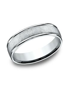Benchmark RECF86585W White Gold Wedding Ring